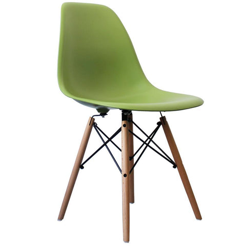 CHARLES EAMES Style Green Plastic Retro DSW Side Chair - directhomeliving