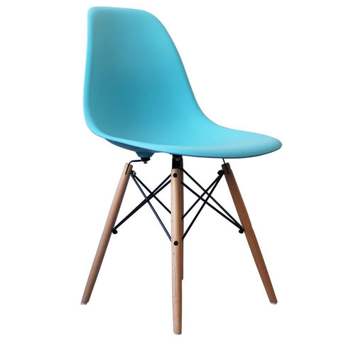 CHARLES EAMES Style Pearl Blue Plastic Retro DSW Side Chair - directhomeliving
