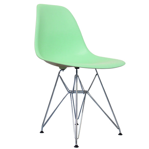 CHARLES EAMES Style Peppermint Plastic Retro DSR Side Chair