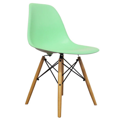 CHARLES EAMES Style Peppermint Plastic Retro DSW Side Chair - directhomeliving
