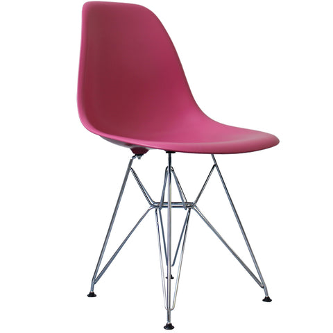 CHARLES EAMES Style Pink Plastic Retro DSR Side Chair - directhomeliving