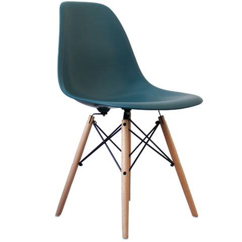 CHARLES EAMES Style Teal Plastic Retro DSW Side Chair - directhomeliving