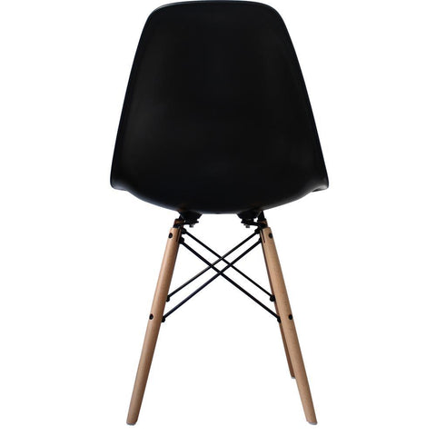 CHARLES EAMES Style Black Plastic Retro DSW Side Chair - directhomeliving