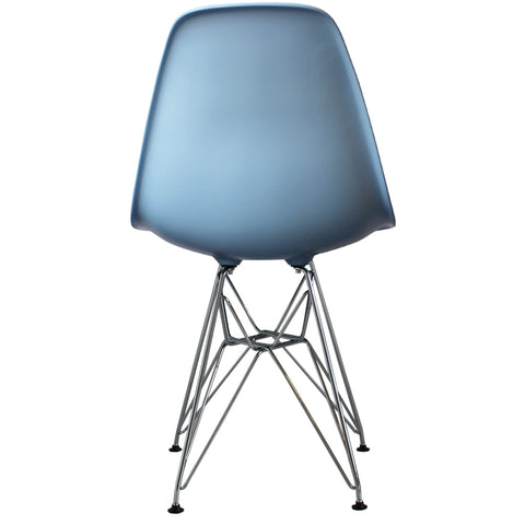 CHARLES EAMES Style Blue Plastic Retro DSR Side Chair - directhomeliving