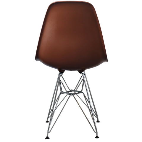 CHARLES EAMES Style Coffee Plastic Retro DSR Side Chair - directhomeliving