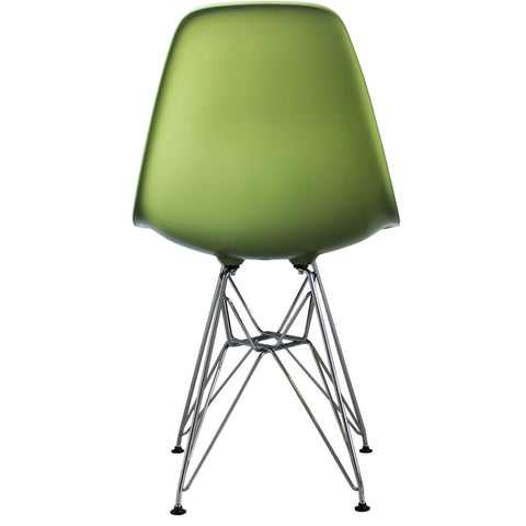 CHARLES EAMES Style Green Plastic Retro DSR Side Chair