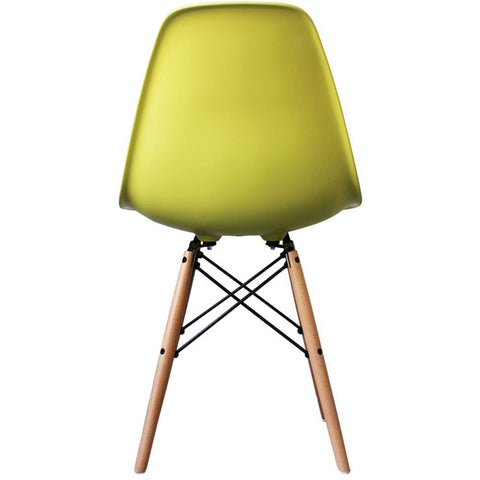 CHARLES EAMES Style Lime Plastic Retro DSW Side Chair - directhomeliving