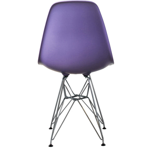 CHARLES EAMES Style Purple Plastic Retro DSR Side Chair - directhomeliving