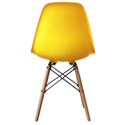 CHARLES EAMES Style Yellow Plastic Retro DSW Side Chair - directhomeliving