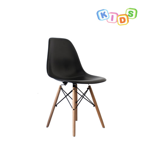 CHARLES EAMES Style Black Plastic Kids DSW Side Chair - directhomeliving