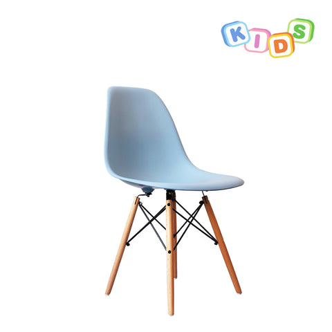 CHARLES EAMES Style Blue Plastic Kids DSW Side Chair - directhomeliving