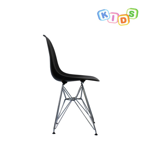 CHARLES EAMES Style Black Plastic Kids DSR Side Chair - directhomeliving
