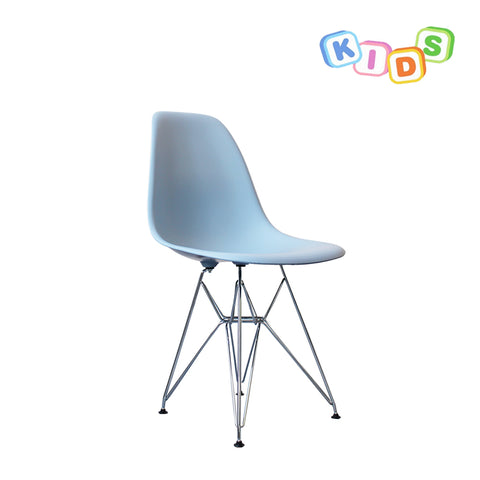 CHARLES EAMES Style Blue Plastic Kids DSR Side Chair - directhomeliving