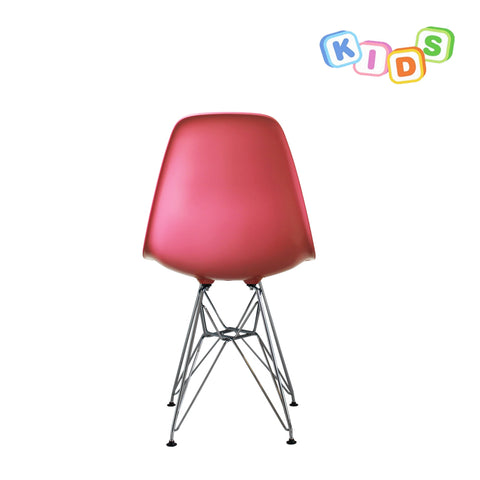 CHARLES EAMES Style Pink Plastic Kids DSR Side Chair - directhomeliving