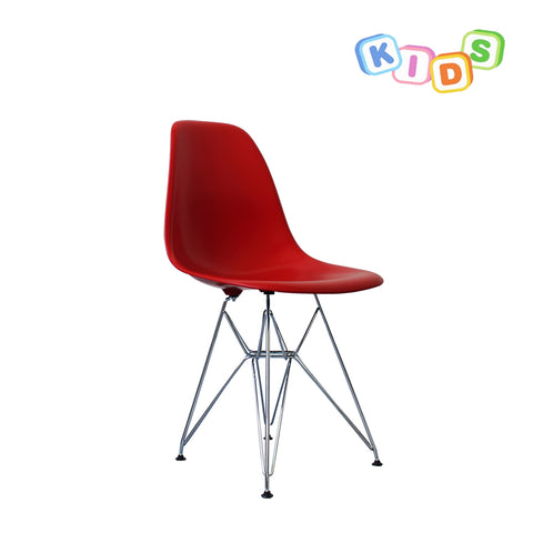 CHARLES EAMES Style Red Plastic Kids DSR Side Chair - directhomeliving