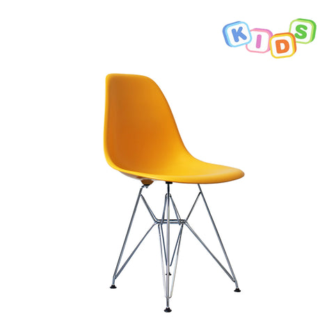 CHARLES EAMES Style Yellow Plastic Kids DSR Side Chair - directhomeliving