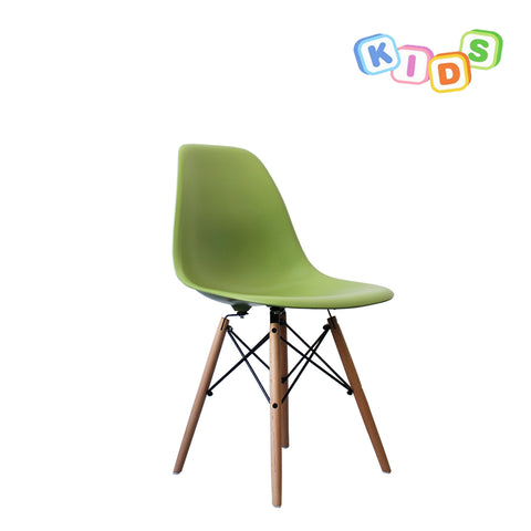 CHARLES EAMES Style Green Plastic Kids DSW Side Chair - directhomeliving
