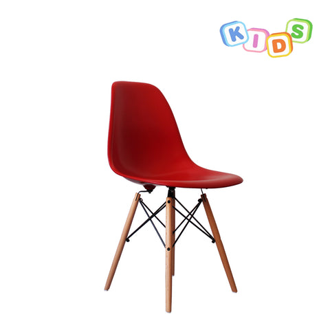 CHARLES EAMES Style Red Plastic Kids DSW Side Chair - directhomeliving