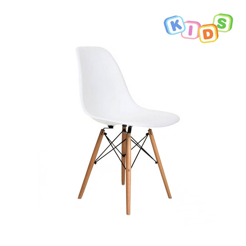 CHARLES EAMES Style White Plastic Kids DSW Side Chair - directhomeliving