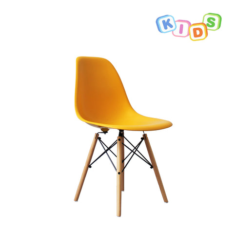 CHARLES EAMES Style Yellow Plastic Kids DSW Side Chair - directhomeliving