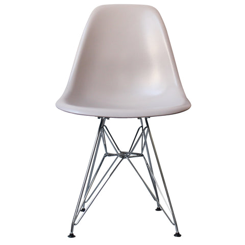 CHARLES EAMES Style Light Grey Plastic Retro DSR Side Chair - directhomeliving