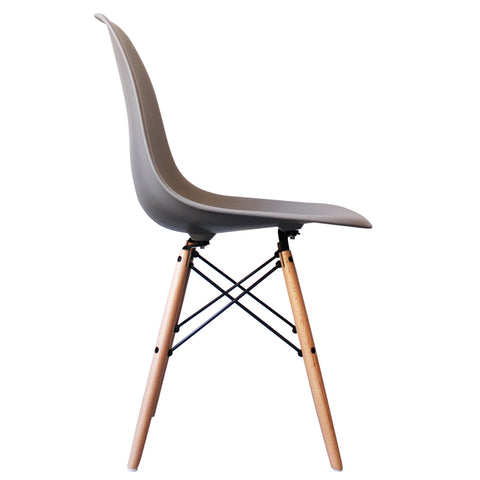 CHARLES EAMES Style Light Grey Plastic Retro DSW Side Chair - directhomeliving