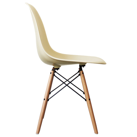 CHARLES EAMES Style Vanilla Plastic Retro DSW Side Chair - directhomeliving