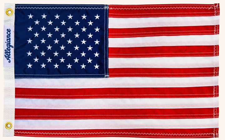 "The Captain | 12"" x 18"" Premium American Flag 