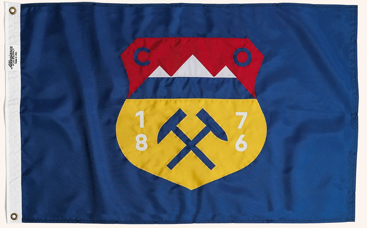 Colorado State Flag, Allegiance Flag Supply, Heirloom Quality Flags