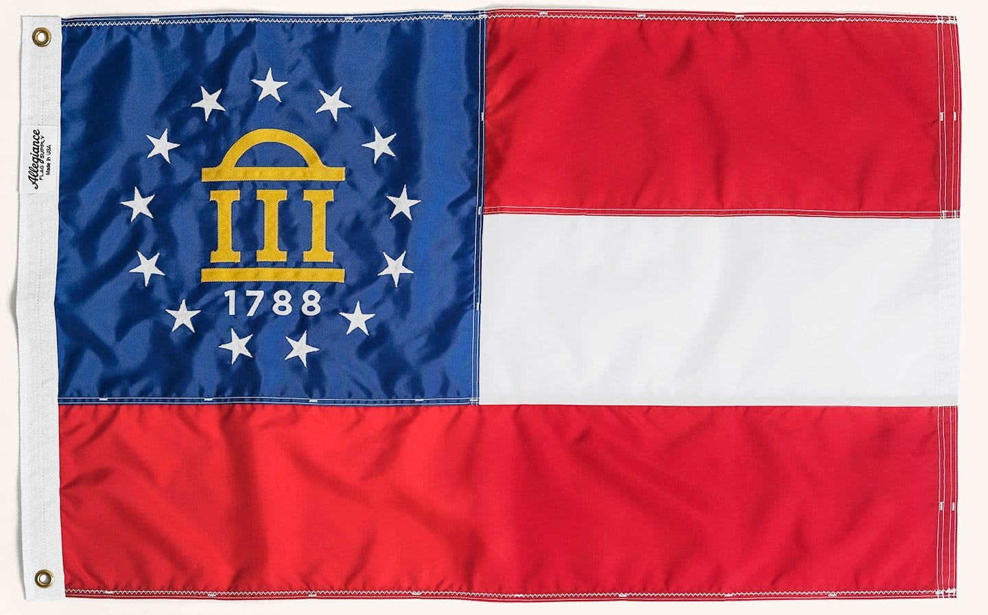 Georgia State Flag, Allegiance Flag Supply, Heirloom Quality Flags