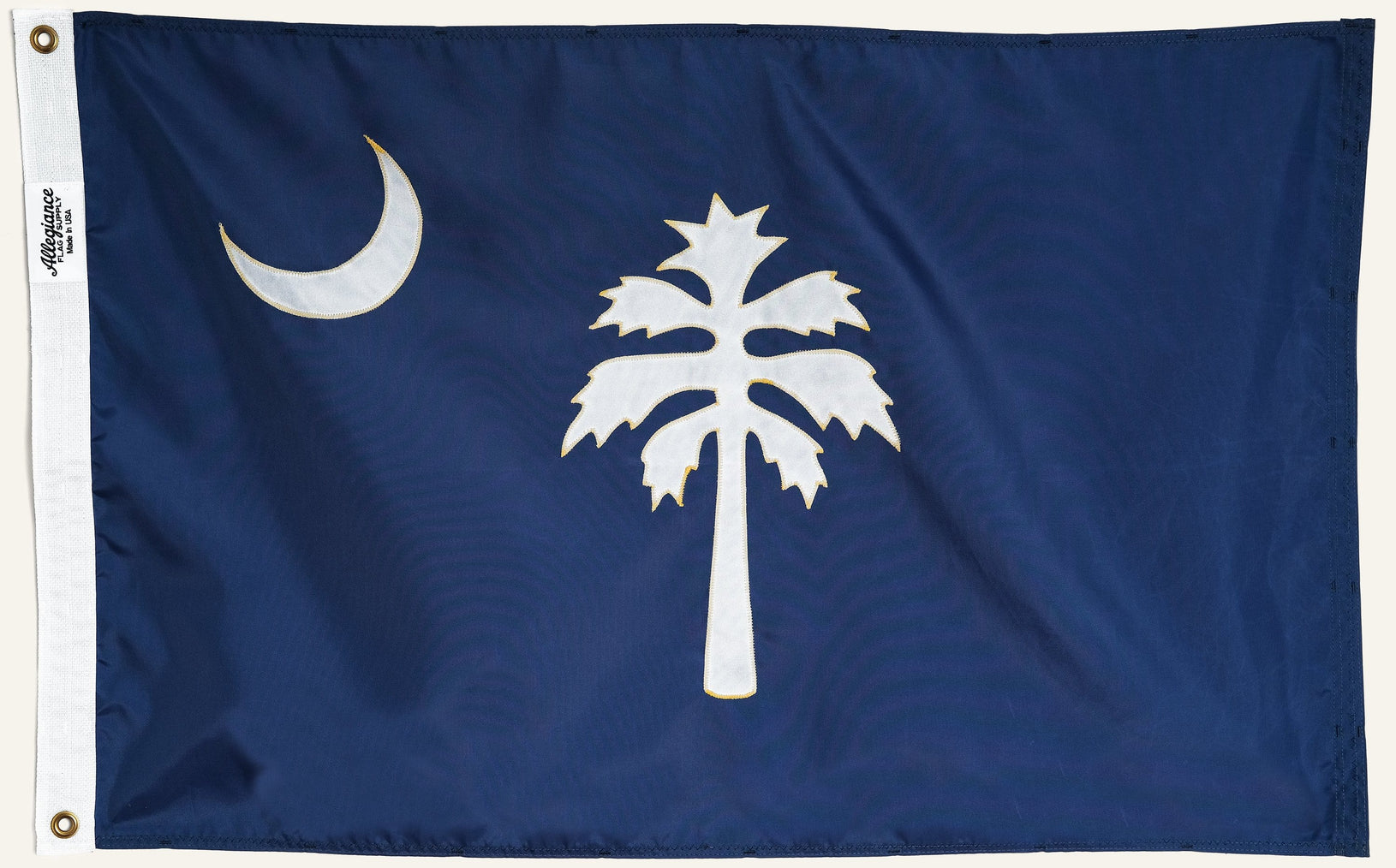 South Carolina State Flag, Allegiance Flag Supply, Heirloom Quality Flags