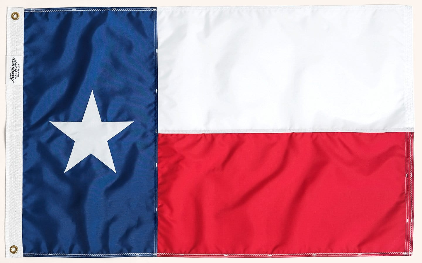 Texas State Flag, Allegiance Flag Supply, Heirloom Quality Flags