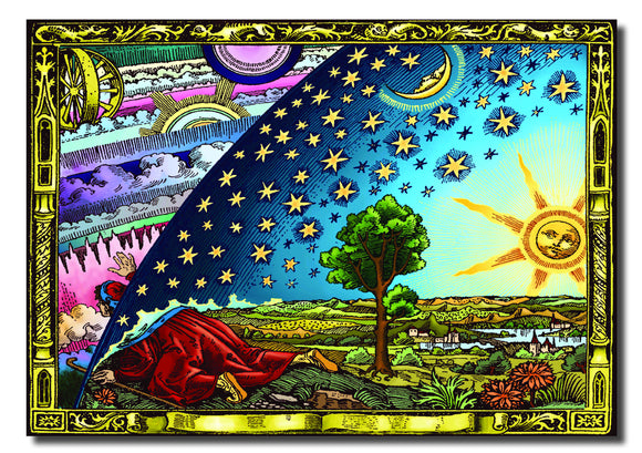 Flammarion Flat Earth Poster (flat earth Art/Flat Earth Theory)