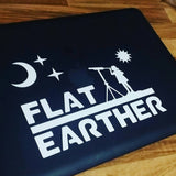 FLAT EARTHER decal - Original design, Flat Earth decal, suitable for car, laptop, wall, door.