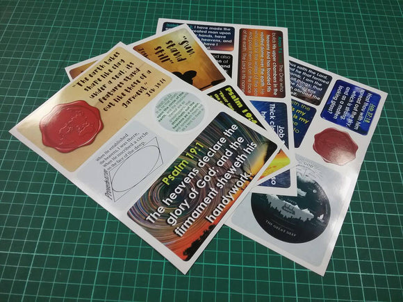 Flat Earth Biblical Scripture Stickers