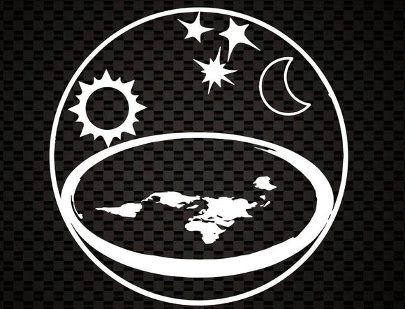 Flat Earth Model Decal