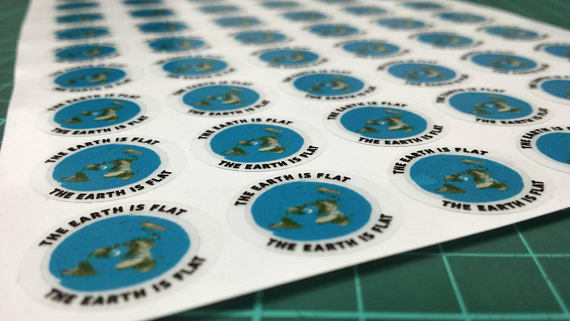 Flat Earth mini stickers