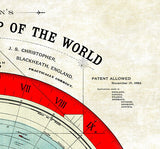 "Flat Earth Alexander Gleason Map -Restored Version A1 33"" x 23"" (Flat Earth Map)"