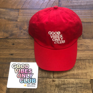 GOOD VIBES ONLY CLUB HAT 🔥