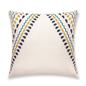 """Fiesta"" pillow 20x20 - Navy blue & Lime Green"