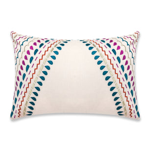 Fiesta pillow 16x24 - Pink & Dark Teal