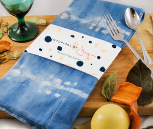 Shibori Tie-Dye Cotton Napkins - Set of 4