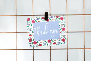"Thank You Card Set - ""Painted Floral Garden"""