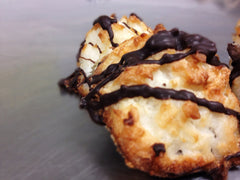 Chocolate Drizzled Coconut Macaroon
