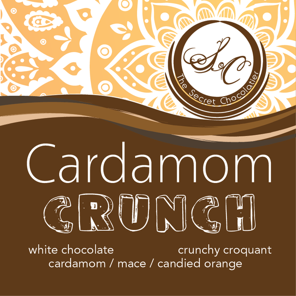 White Chocolate Cardamom Crunch Bark
