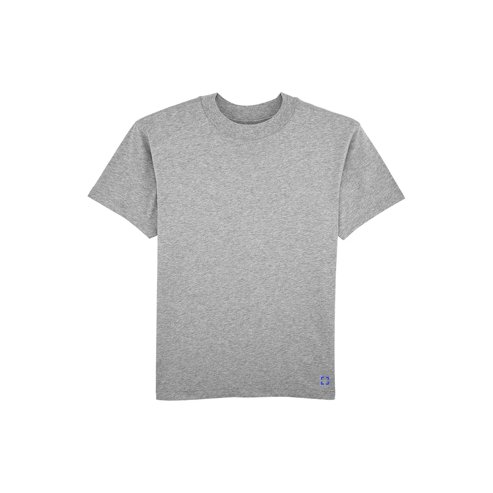 Bruce - la base packshot of a heather-grey t-shirt in organic coton