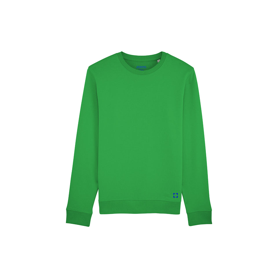 Mac - la base packshot of a pure-green usinex sweat in organic coton for women and men