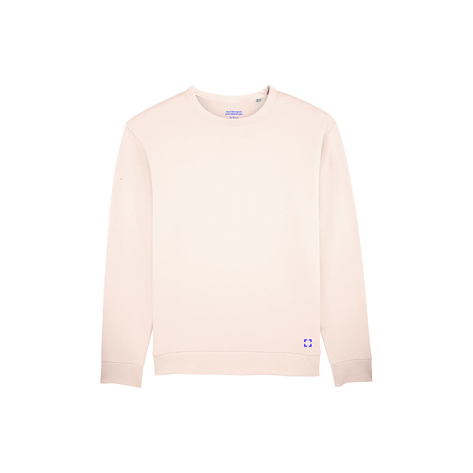 Marty - la base packshot of a sakura usinex sweat in organic coton for women and men