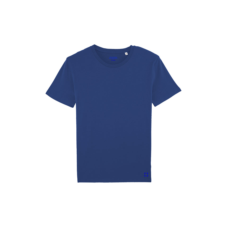 Morgan - la base packshot of a deep-blue usinex t-shirt in organic coton for women and men
