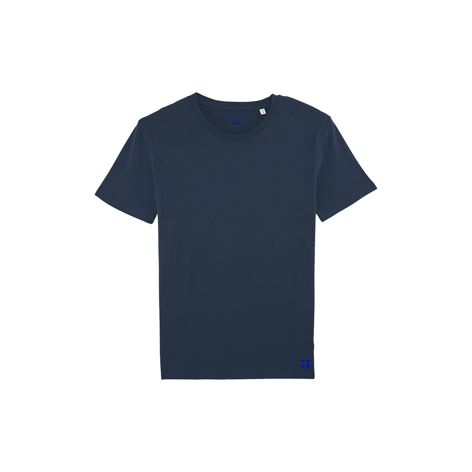 Morgan - la base packshot of a navy usinex t-shirt in organic coton for women and men